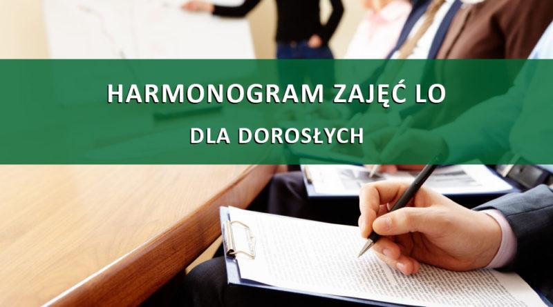 Grupa Pana R. Szydełko Harmonogram
