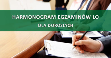 Harmonogram egzaminów P.M. Skrzypiec