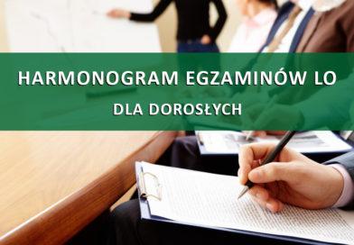 Harmonogram Egzaminów LO